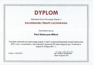 Dyplom RTZ I stopień