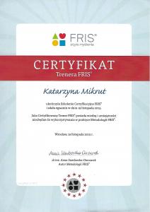 Certyfikat Trenera FRIS®