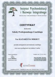 Certyfikat Coaching SPC
