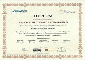 Dyplom RTZ II stopień