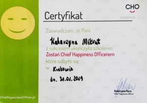 Certyfikat Chief Happiness Offices