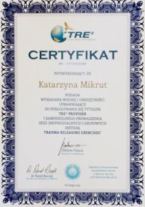 Certyfikat Provider TRE®